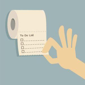 To-do liste på papir